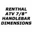 "Renthal 7/8"" (standard) handlebars - atv, Standard handlebars (7/8"" or 22.2mm), ATV, quad bike, farm bike, parts, accessories 