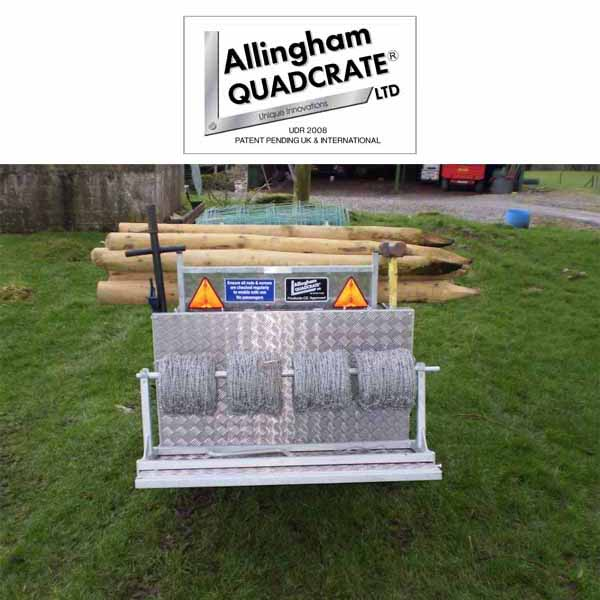 Allingham Quadcrate Wire Unroller Allingham Quadcrate Atv Farm